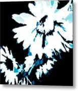 Mums In Abstract Metal Print