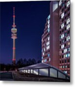 Munich - Olympictower And Village Metal Print