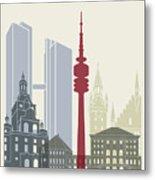Munich Skyline Poster Metal Print