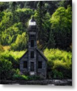 Munising Grand Island Lighthouse Upper Peninsula Michigan Vertical 01 Metal Print