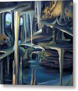 Mural Ice Monks In November Metal Print