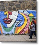 Mural In Valparaiso Metal Print