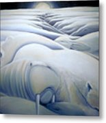 Mural  Winters Embracing Crevice Metal Print