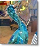 Murano Glass Pelican Metal Print