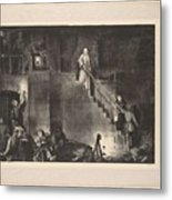 Murder Of Edith Cavell, First State By George Bellows 1882-1925 Metal Print
