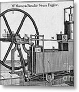 Murrays Portable Steam Engine, 19th Metal Print