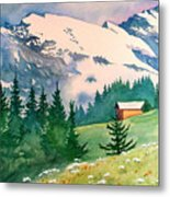 Murren Switzerland Metal Print by Scott Nelson