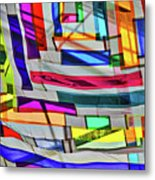 Museum Atrium Art Abstract Metal Print