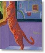 Museum Cat Metal Print
