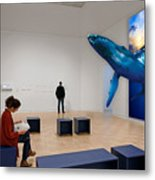 Museum Whale Watching Metal Print