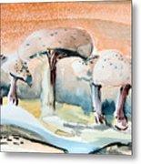 Mushroom Heaven Metal Print by Mindy Newman