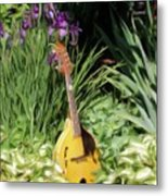 Music And Flowers Metal Print