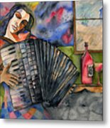 Music And Wine Metal Print