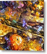 Music And Wine - Palette Knife Oil Painting On Canvas By Leonid Afremov Metal Print