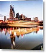 Music City Motion - Nashville Skyline Square Format Metal Print