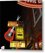 Music City Nashville Metal Print