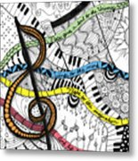 Music Gives Life Metal Print
