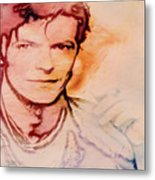 Music Icons - David Bowie Vlll Metal Print