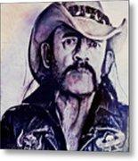 Music Icons - Lemmy Kilmister Iv Metal Print