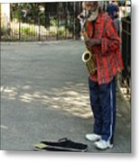 Music In Tompkins Square Metal Print