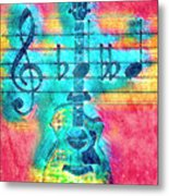 Music Is Everything In Colors Metal Print