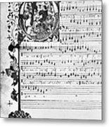Music Manuscript, 1450 Metal Print