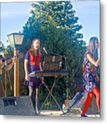 Musical Entertainers In Central Park In Bariloche-argentina Metal Print