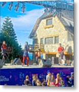 Musical Entertainment In Central Park In Bariloche-argentina Metal Print