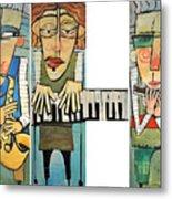 Musician Trio Metal Print