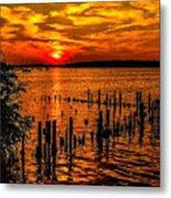 Muskegon Sunset Metal Print