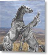 Mustang Battle Metal Print