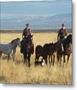 Mustang 'n' Cowboys Metal Print