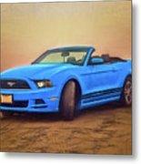 Mustang Ocean Shores Beach Metal Print