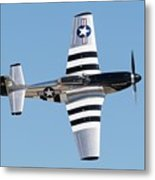 Mustang Photo Pass - 2017 Christopher Buff, Www.aviationbuff.com Metal Print