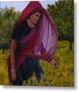 Mustard Fields Of India Metal Print