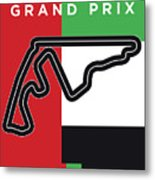 My Abu Dhabi Grand Prix Minimal Poster Metal Print