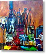 My Art Studio Metal Print