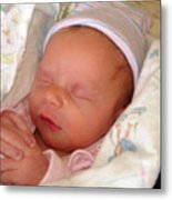 My Baby Prays II Metal Print