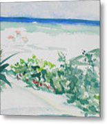 My Beach Cottage In Siesta Key Metal Print
