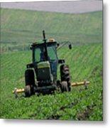My Big Green Tractor Metal Print