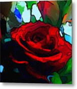 My Birthday Rose Metal Print