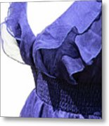 My Blue Dress Metal Print