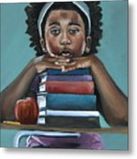 Her Books  Metal Print