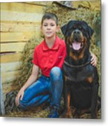 My Brother And The Dog 2 Metal Print