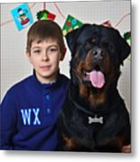 My Brother And The Dog Metal Print