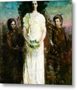 My Children Mary Gerald And Gladys Thayer Metal Print