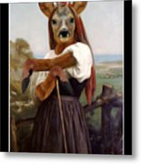 My Deer Shepherdess Metal Print