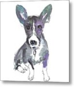 My Dog Ultra Violet Metal Print