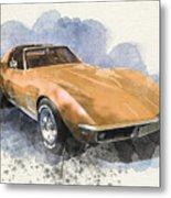 Orange Dream Car Metal Print