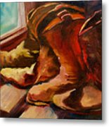 My Favorite Boots Metal Print
